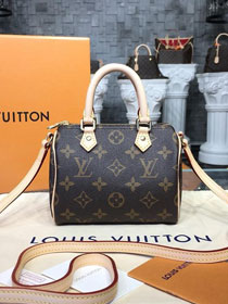 Louis vuitton original handmade monogram canvas nano speedy M61252