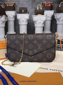 Louis vuitton original handmade monogram canvas pochette felicie M61276