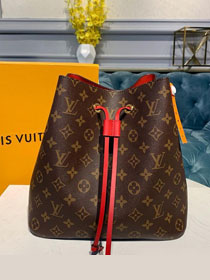 Louis vuitton original handmade monogram canvas neonoe bag M44021 red