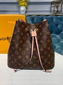 Louis vuitton original handmade monogram canvas neonoe bag M44022 pink