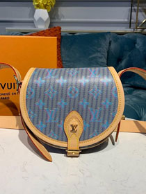 2020 louis vuitton original monogram LV Pop print tambourin handbag M55461 blue
