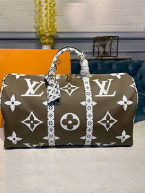 Louis vuitton original monogram coated canvas keepall 50 m41418