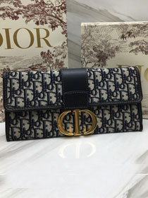 2019 Dior original canvas 30 montaigne clutch bag M9206 navy blue