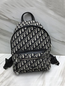 2019 Dior original canvas oblique small backpack m6613 black