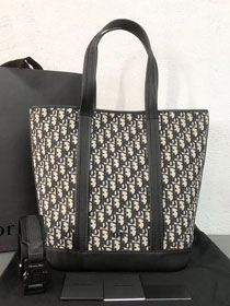 2019 Dior original canvas shopping bag 93304 black