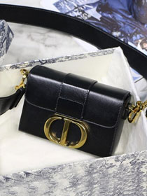 2019 Dior original lambskin 30 montaigne box bag M9204 black