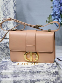 2019 Dior original smooth calfskin 30 montaigne flap bag M9203 apricot