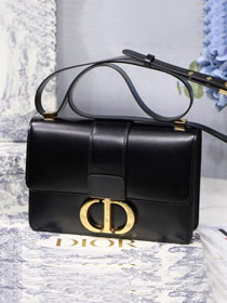 2019 Dior original smooth calfskin 30 montaigne flap bag M9203 black