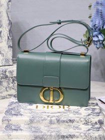 2019 Dior original smooth calfskin 30 montaigne flap bag M9203 light green