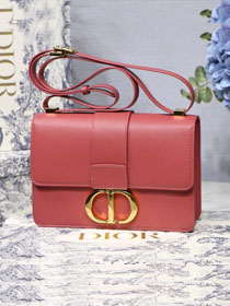 2019 Dior original smooth calfskin 30 montaigne flap bag M9203 red