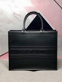 Dior original calfskin book tote oblique bag M1286-2 black