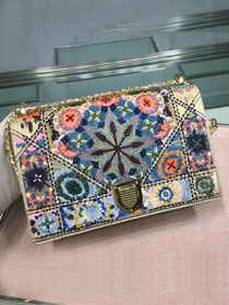 Dior original embroidered calfskin diorama bag M0422 white
