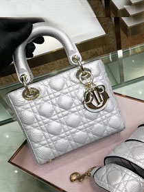 Dior original grained calfskin my dior bag M5055 silver