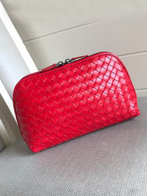 BV original lambskin compact cosmetic case 132534 red