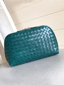 BV original lambskin compact cosmetic case 132534 turquoise