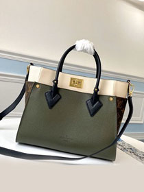 2020 louis vuitton original calfskin on my side tote bag M55302 khaki