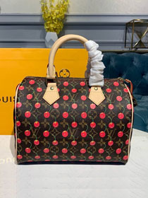 Louis vuitton original monogram cherry speedy 25 handbag m41108