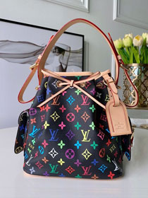 Louis vuitton original monogram multicolor neonoe bag M42230 black