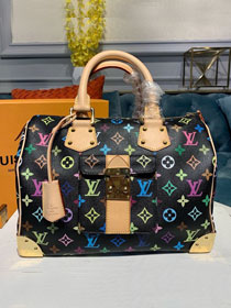 Louis vuitton original monogram multicolor speedy 30 m92642 black