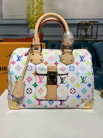 Louis vuitton original monogram multicolor speedy 30 m92643 white