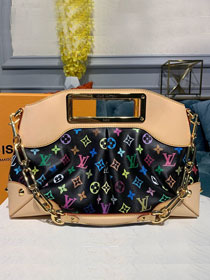 Louis vuitton original monogram multicolor tote bag M40256 black