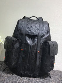 2020 louis vuitton original monogram empreinte christopher backpack gm M53286 black