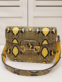 2020 GG original calfskin 1955 horsebit shoulder bag 602204 yellow