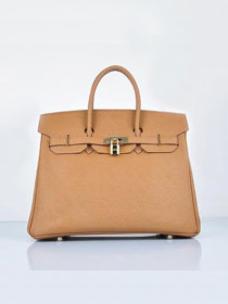 Hermes original epsom leather birkin 30 bag H30 light coffee