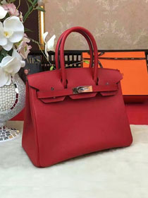 Hermes original epsom leather birkin 30 bag H30-1 red