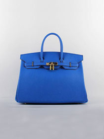 Hermes original togo leather birkin 25 bag H25-1 royal blue
