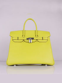 Hermes original togo leather birkin 30 bag H30-1 lemon yellow