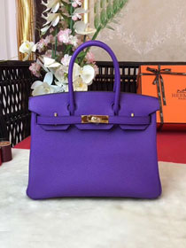 Hermes original togo leather birkin 30 bag H30-1 violet