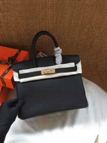 Hermes soft calf leather birkin 25 bag H25-5 black