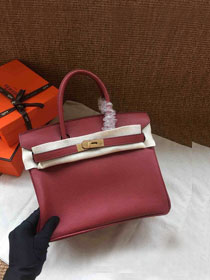 Hermes soft calf leather birkin 25 bag H25-5 bordeaux