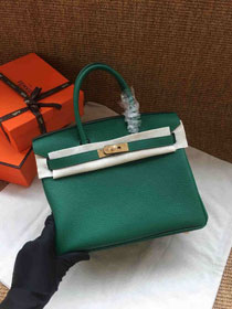 Hermes soft calf leather birkin 25 bag H25-5 green