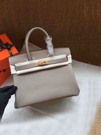 Hermes soft calf leather birkin 25 bag H25-5 grey