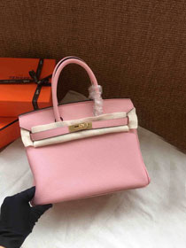 Hermes soft calf leather birkin 25 bag H25-5 pink