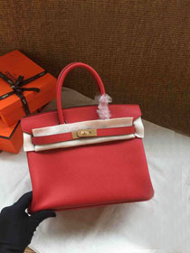 Hermes soft calf leather birkin 25 bag H25-5 red