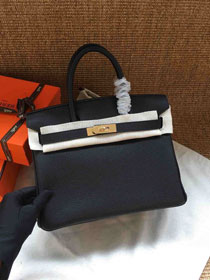 Hermes soft calf leather birkin 30 bag H30-5 black