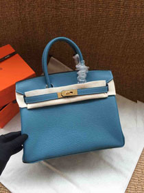 Hermes soft calf leather birkin 30 bag H30-5 blue