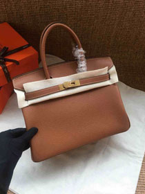 Hermes soft calf leather birkin 30 bag H30-5 coffee