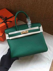 Hermes soft calf leather birkin 30 bag H30-5 green
