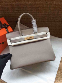 Hermes soft calf leather birkin 30 bag H30-5 grey