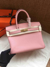 Hermes soft calf leather birkin 30 bag H30-5 pink