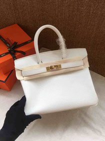 Hermes soft calf leather birkin 30 bag H30-5 white