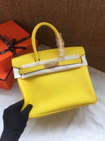 Hermes soft calf leather birkin 30 bag H30-5 yellow