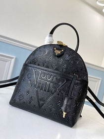 2020 louis vuitton original embossed calfskin moon backpack M44945 black