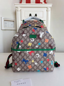 GG original canvas print backpack 271327 green