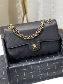 CC original lizard calfskin flap bag A01112 black