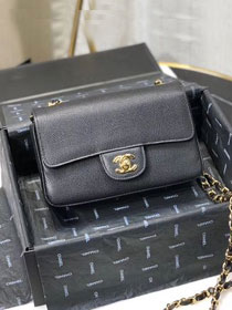 CC original lizard calfskin mini flap bag A69900 black